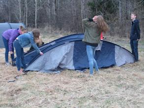 Photo: Eget tält utan värme