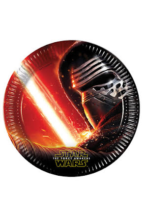 SW The Force Awakens Tallrik 23cm  8 st.