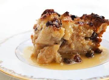 Bread Pudding with Bourbon Pecan Sauce