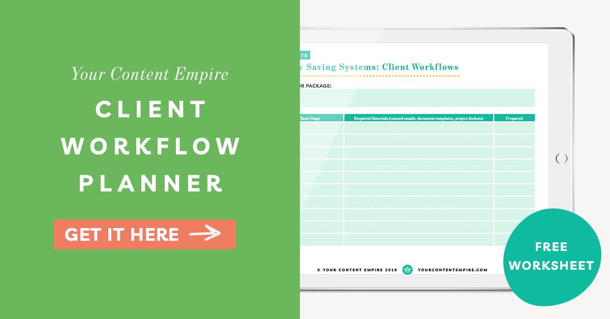 Freebie | Client Workflow Planner