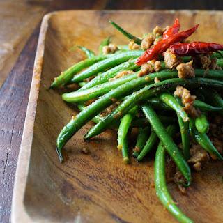 Green Beans in XO Sauce.