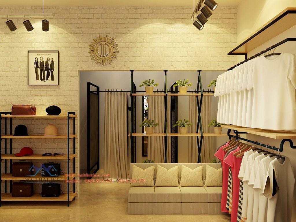 thiết kế cửa hàng thời trang nữ đẹp và sang