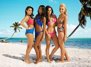 Photo: Single girls group - Left to Right - Chloe, Farah, Vicky & Emily