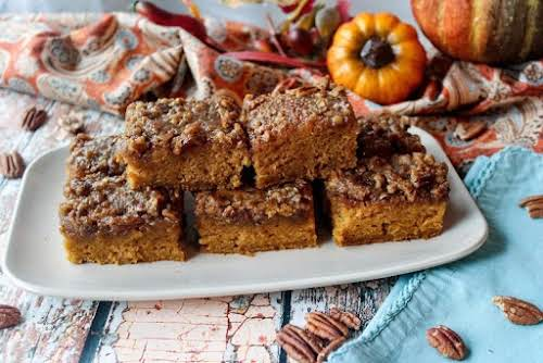 "Click Here for Recipe: Glazed Pumpkin Bars ""These pumpkin bars should have..."