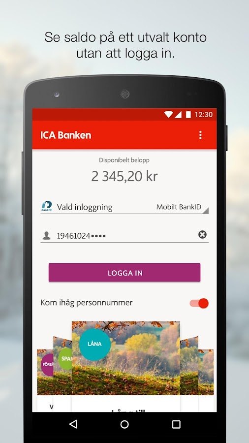 ICA Banken- screenshot