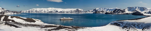 Ponant-Argentina-snows-pano.jpg - A panoramic shot of Ponant's Le Lyrial during a sailing from Argentina to Antarctica.