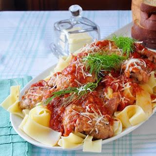 Tomato Fennel Braised Chicken Thighs
