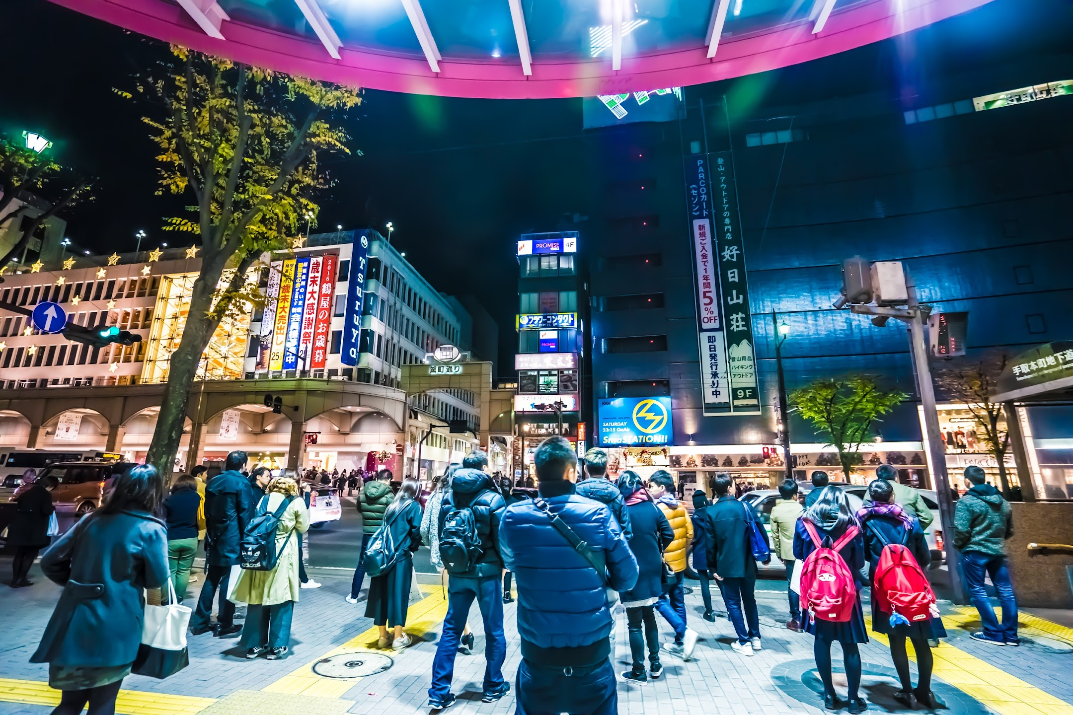 熊本 夜 上通商店街2