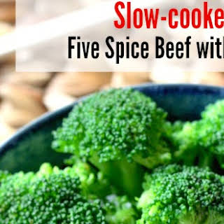 Slow Cooker Hoisin Five-Spice Beef with Broccoli.