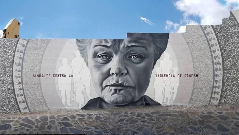 Mural contra la violencia de género.