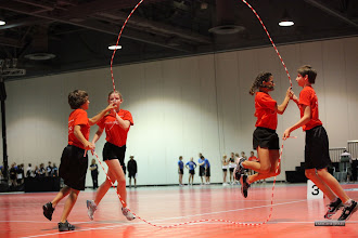 Photo: Dane, Charlotte, Maya, Ethan  Double Dutch Pairs Freestyle  6th place 15-17 age division