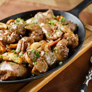 Tasty Beef Liver With Mushrooms