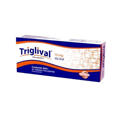 Rosuvastatina Triglival 10 mg x 30 Tabletas