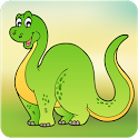 Kids Dinosaur Scratch & Color icon