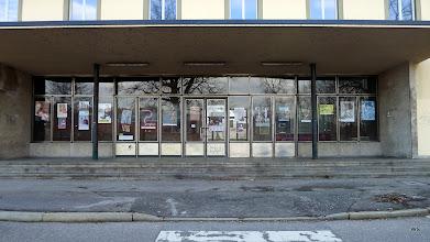 Photo: Grube/Fricke/Kefer: Bahnhof Schwäbisch Hall / Haupteingang (geschlossen)