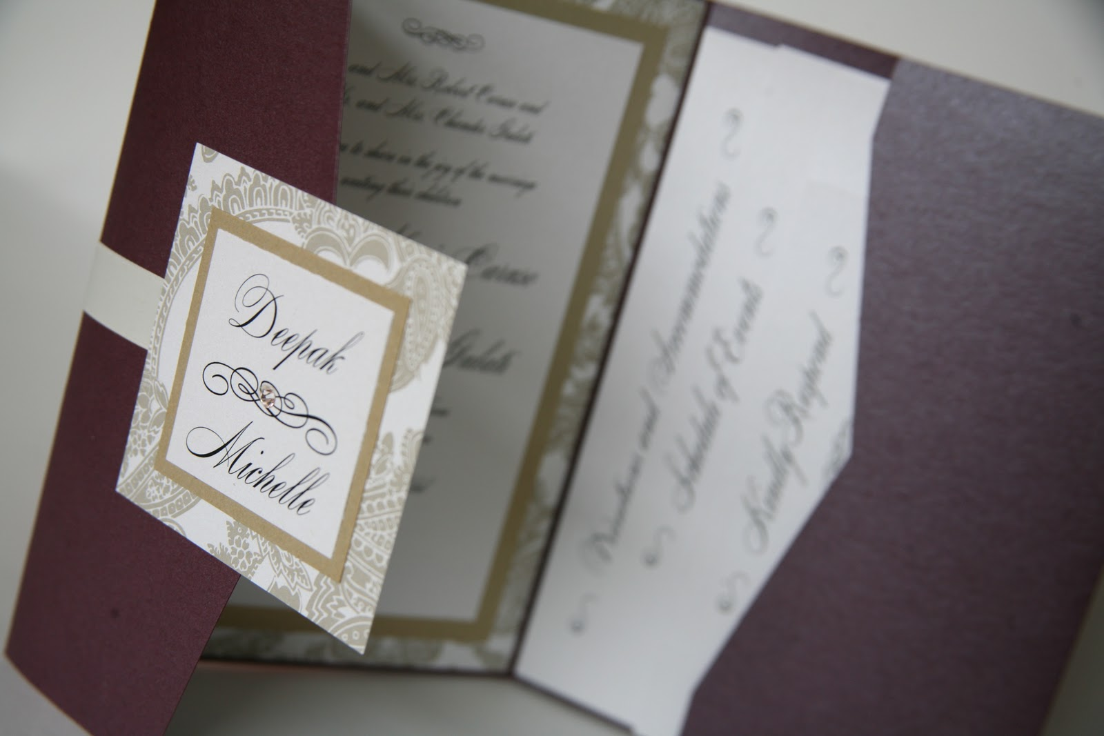 Photo Pocket Wedding Invitations: Becki's Blog: Pocket Wedding Invitation
