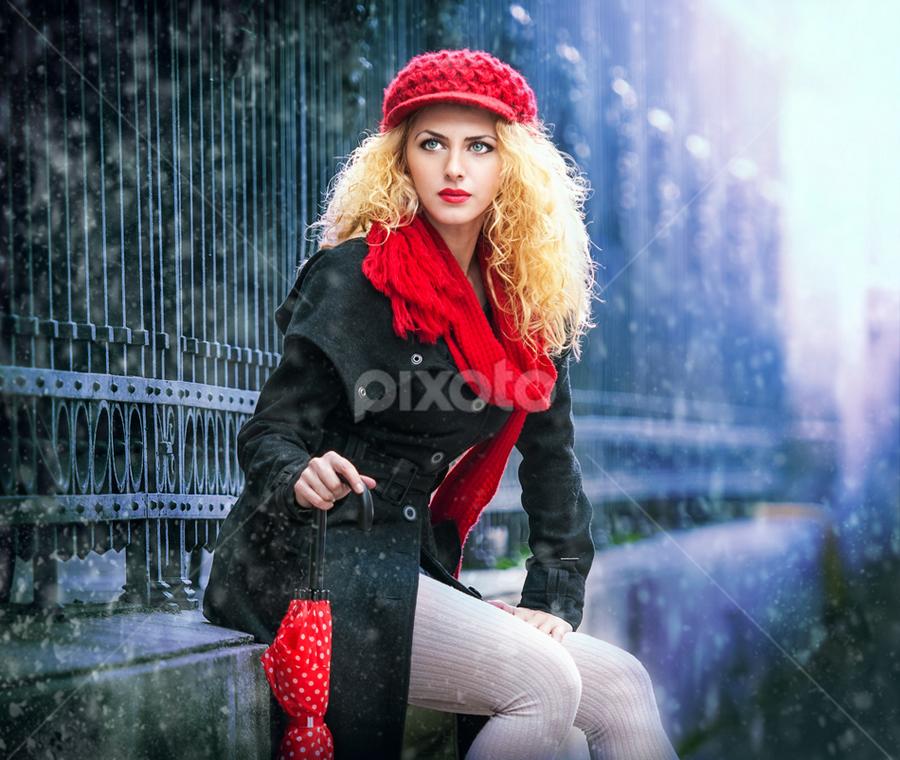 winter fashion shoot by Iancu Cristi - People Fashion ( fashion glamour winter )