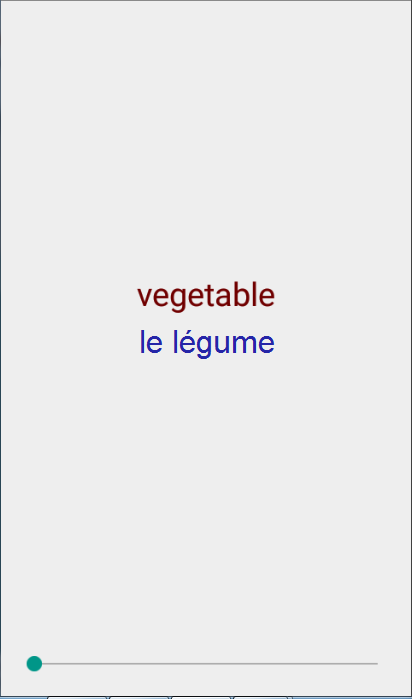 French Nouns 1 Vocabulary Quiz- screenshot