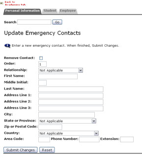 Emergency Contacts New Form
