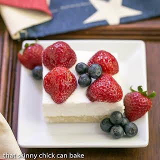 Berry Cheesecake Flag Dessert.