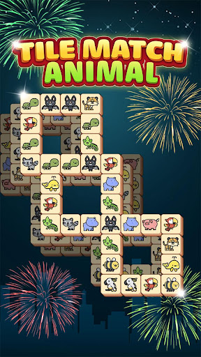 Tile Match Animal - Classic Triple Matching Puzzle apkpoly screenshots 1