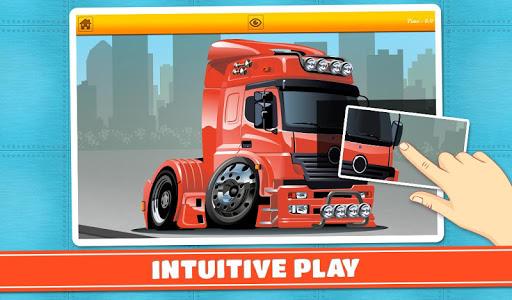 玩免費教育APP|下載卡車與汽車兒童拼圖 app不用錢|硬是要APP