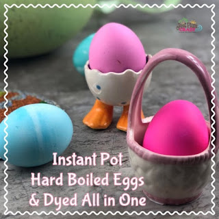 Instant Pot Hard Boiled Eggs and Dyed All In One.