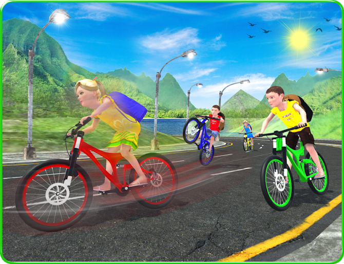 Kids School Time Bicycle Race Android 8