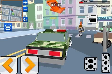 Blocky army: City rush racer