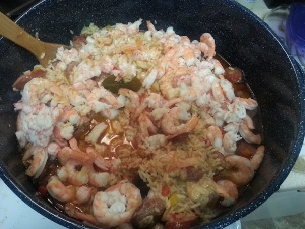 Stir in shrimp; cover and cook 5 minutes or until done. Sprinkle each serving...