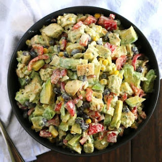Grilled Chicken Avocado Salad.