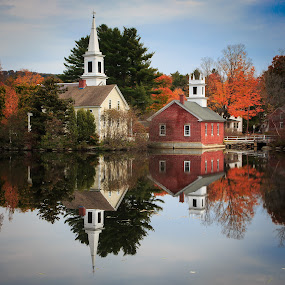 Harrisville, NH by David Long - Buildings & Architecture Other Exteriors ( harrisville, fall colors, new hampshire,  )