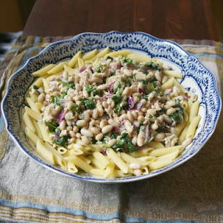 Tuna White Bean Pasta Salad