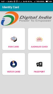 Aadhaar card:Pan Card:Voter ID:Passport - náhled