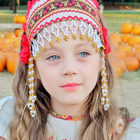 Russian beauty  by Anna Cole - Babies & Children Child Portraits ( #girl #toddler #kids #dress #russian #costume,  )