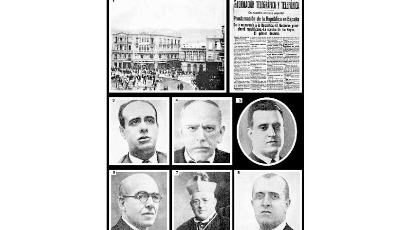 Miguel Granados, Nicolás Salmerón García, Rogelio Pérez, Benigno Ferrer, Bernardo Martínez y Juan Company.