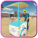 Beach Ice Cream Man Free Delivery Simulator Games icon