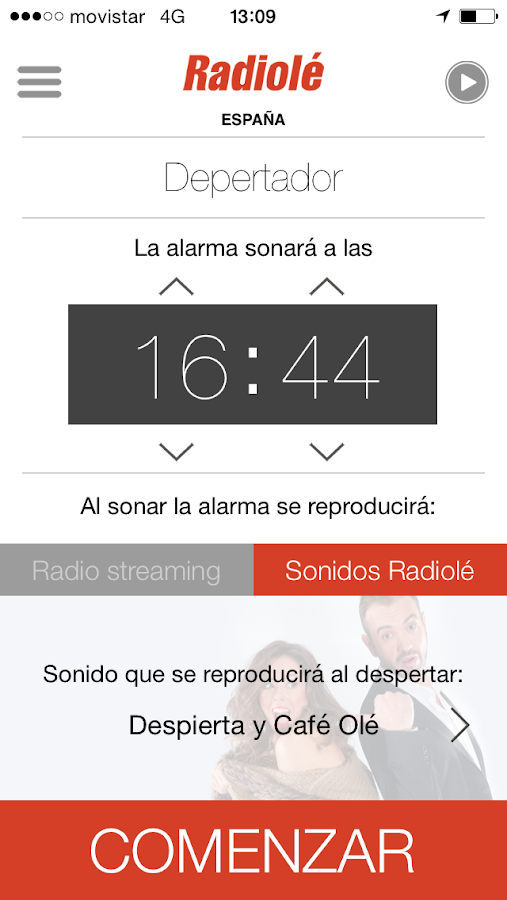 Radiolé- screenshot