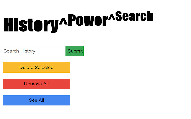 Power-Search your History