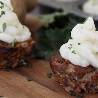 Meatloaf Cupcakes with Mashed Potato Icing.