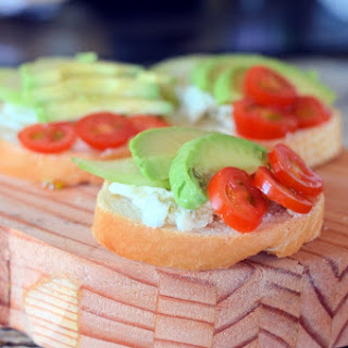 Mini Open Faced Sandwiches.