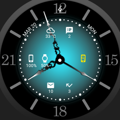 Sun Watch Face- screenshot