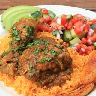 Seco de pollo {Ecuadorian chicken stew}.