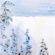 "Photo: Akslei Gallen-Kallela, ""Paesaggio invernale"""