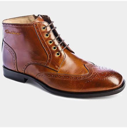 Dahlin Hardy boots brouge ljusbrun