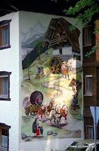 Photo: Weissensee. Muurschildering.
