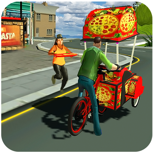 Bicycle Pizza Delivery: Futuristic Pizza Hawker