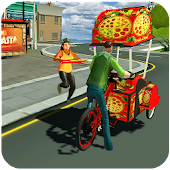 Bicycle Pizza Delivery: Futuristic Pizza Hawker
