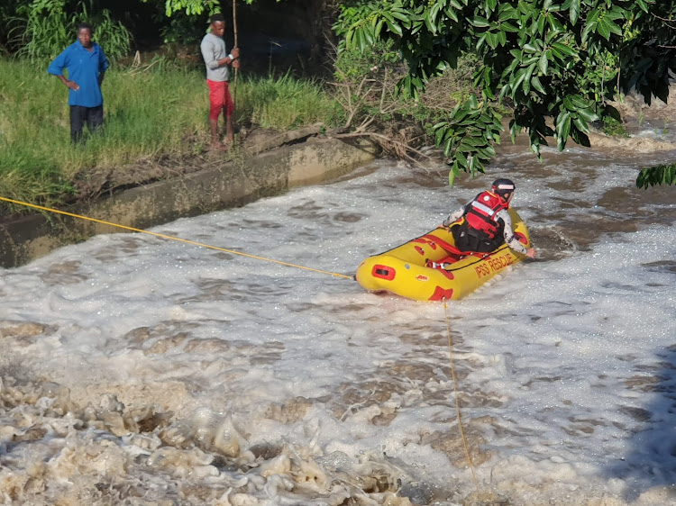 Rescuers searching on Tuesday for a nine-year-old boy, who was reportedly swept off a bridge into the Nonoti River while walking home from school.