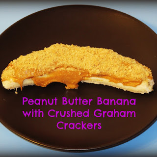 Peanut Butter Banana with Crushed Graham Crackers Snack.